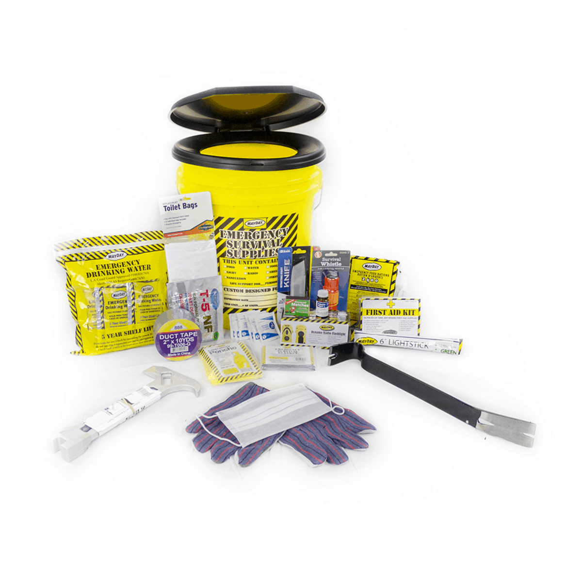 Deluxe Emergency Honey Bucket Kits (1 Person Kit)