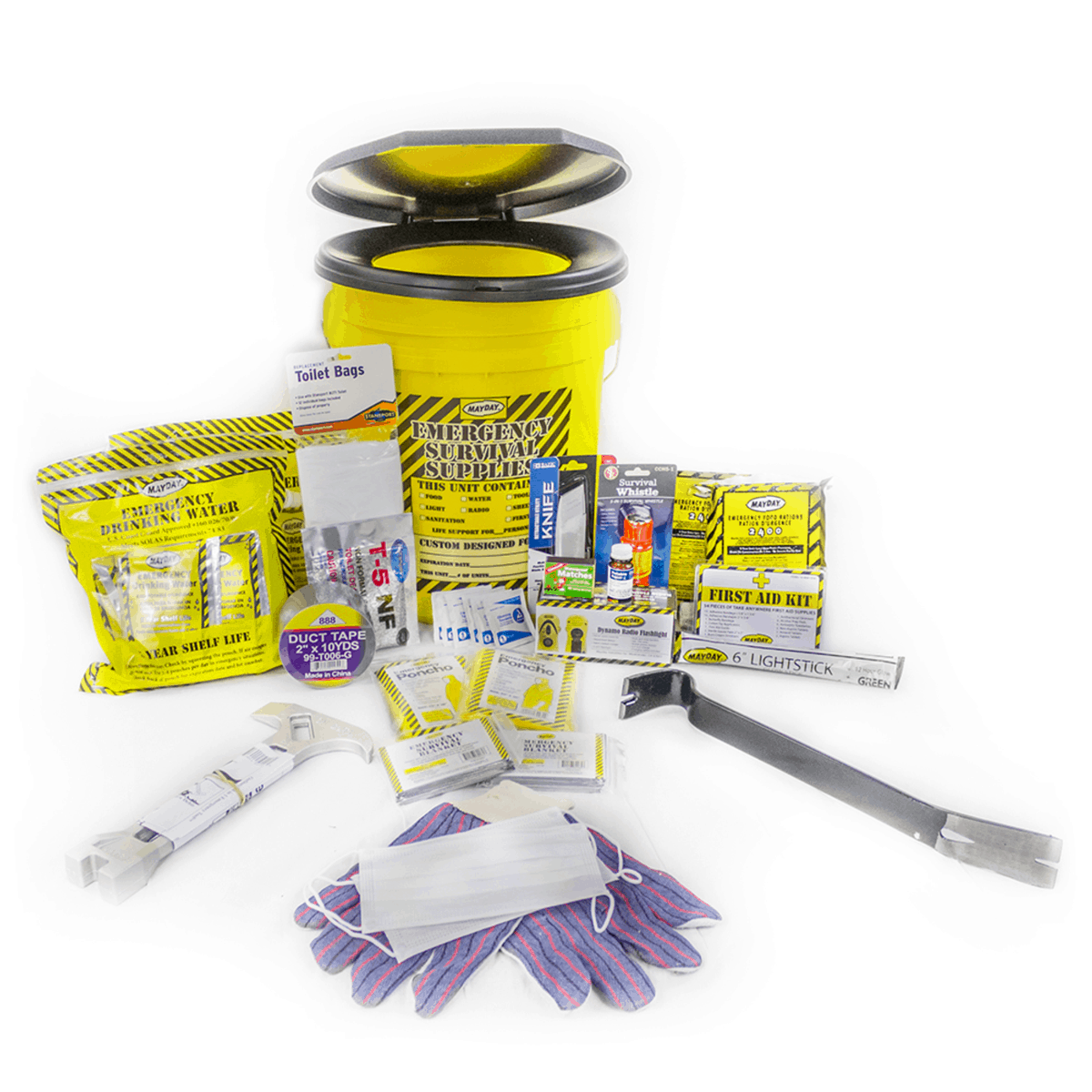 Deluxe Emergency Honey Bucket Kits (2 Person Kit)