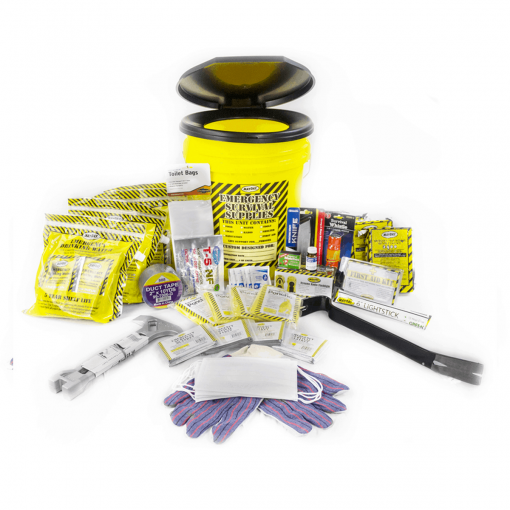 Deluxe Emergency Honey Bucket Kit with Matches (4 Person Kit)