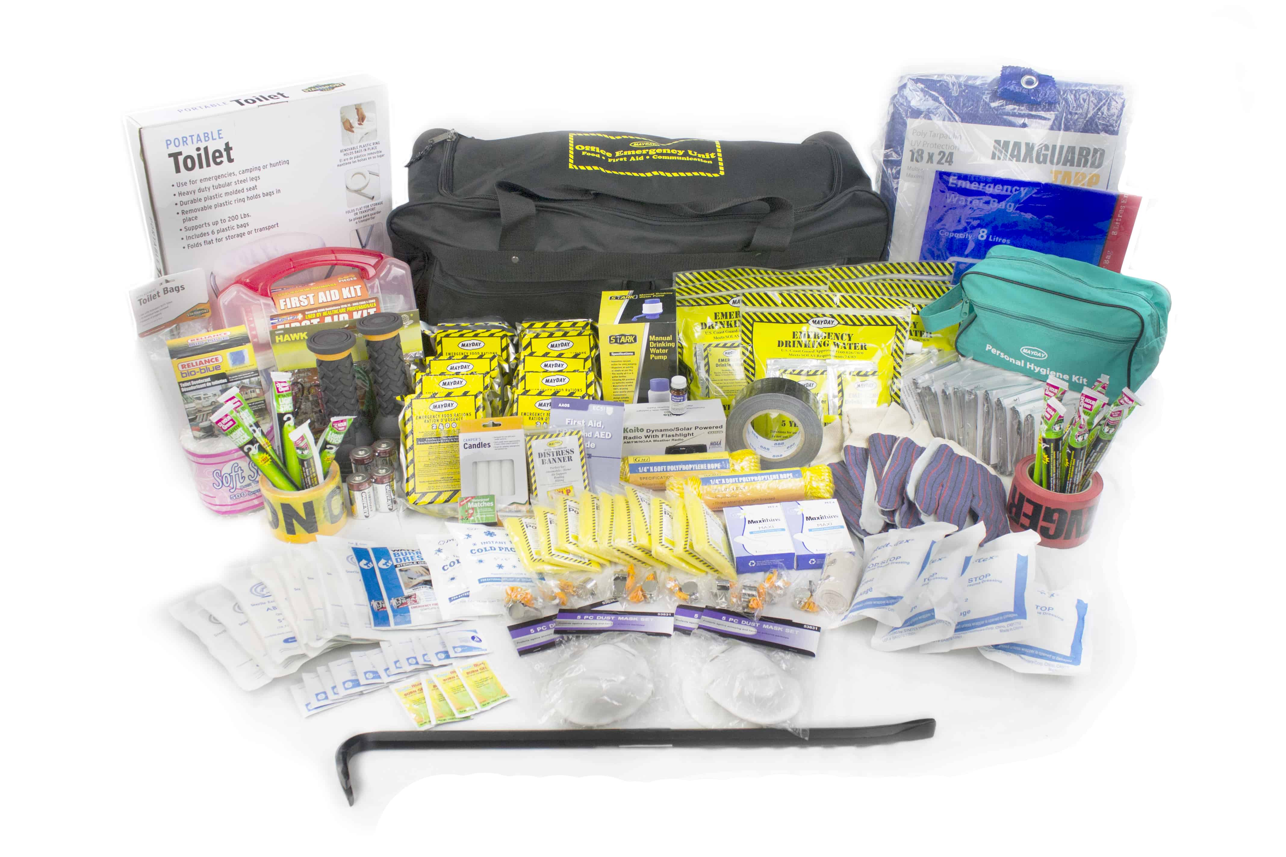 Deluxe Office Emergency Kit on Wheels (10 Person)