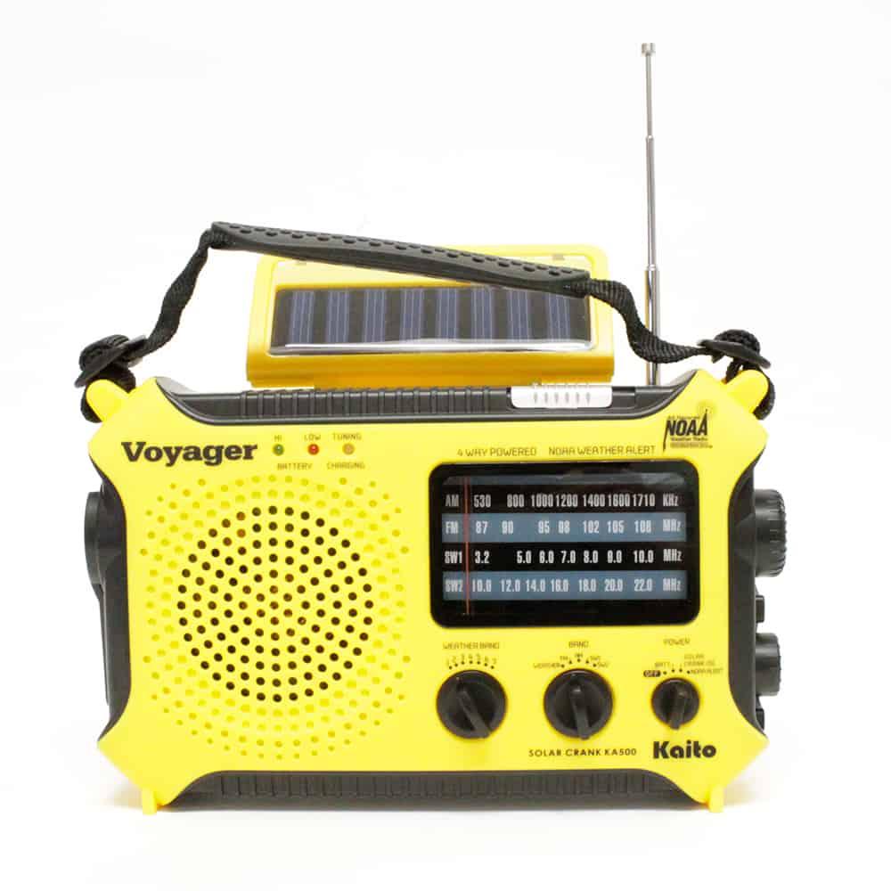 The Voyager - Solar AM/FM/SW/NOAA Weather Band Radio Flashlight