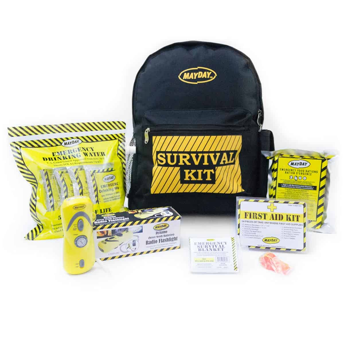 Economy Emergency Backpack Kits (1 Person Kit)