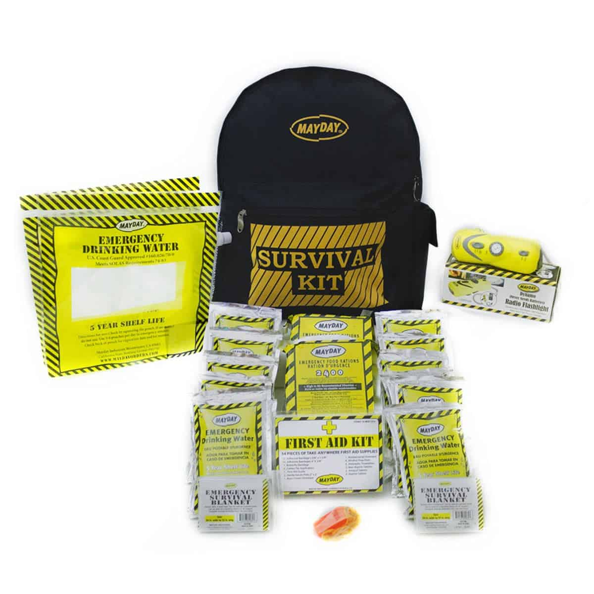 Economy Emergency Backpack Kits (2 Person Kit)