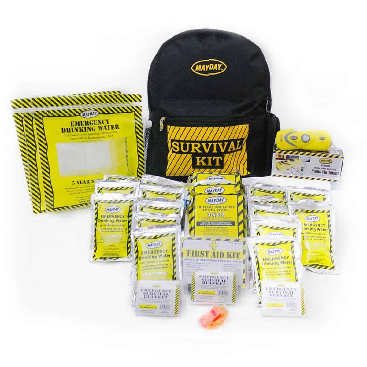 Economy Emergency Backpack Kits (3 Person Kit)