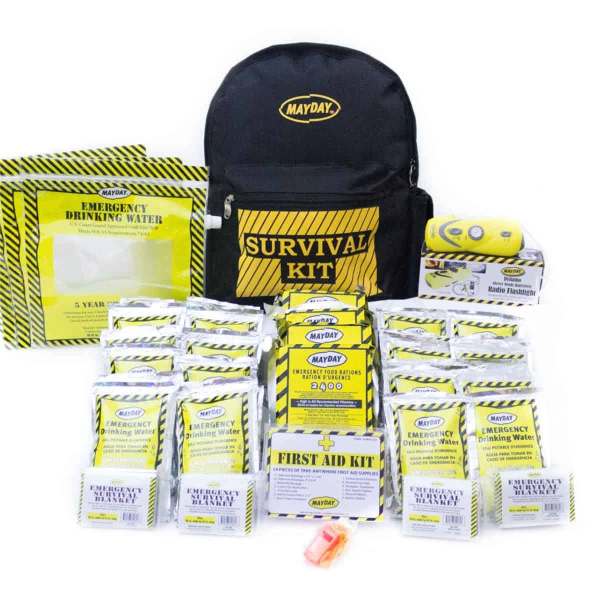 Economy Emergency Backpack Kits (4 Person Kit)