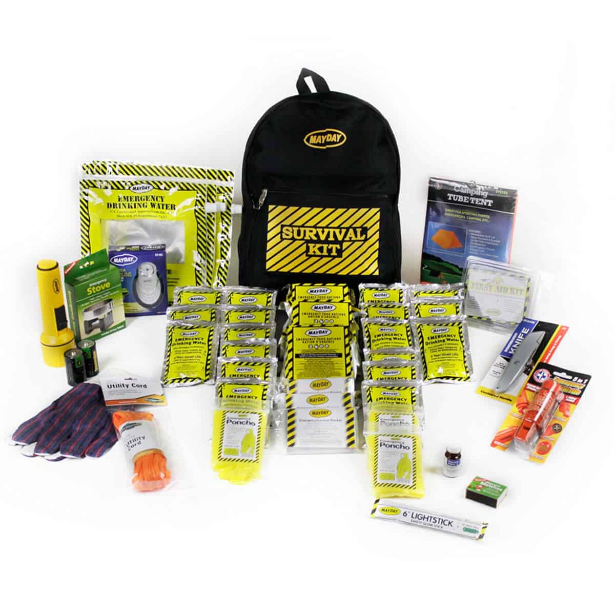 Deluxe Emergency Backpack Kits (4 Person Kit)