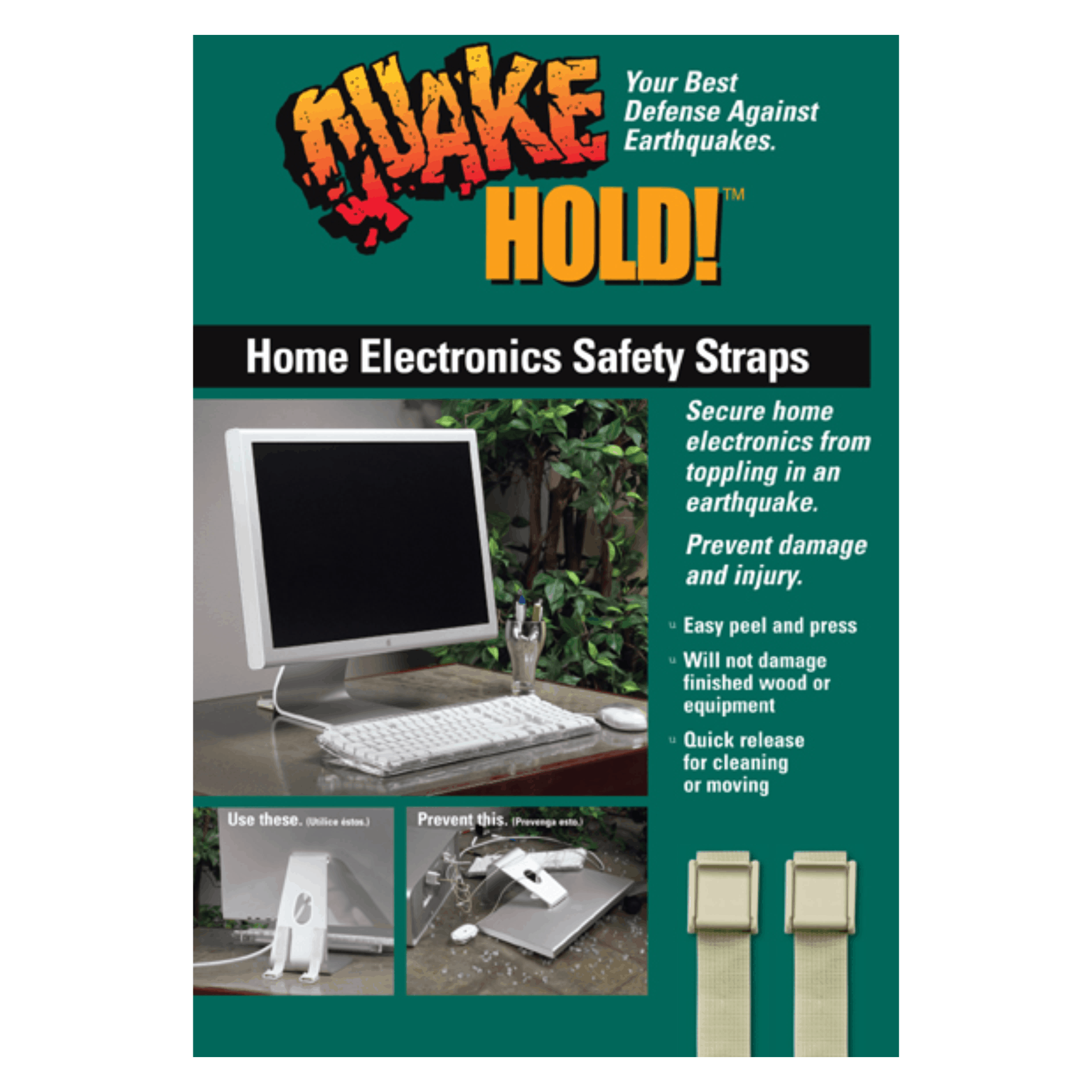 QuakeHOLD! Home Electronic Safety Straps