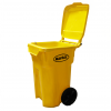 Yellow Storage Container On Wheels