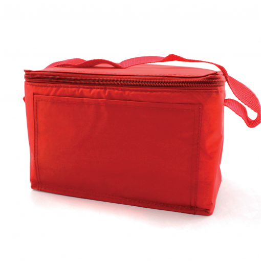 Blank Red Vinyl Cooler Bag with handle