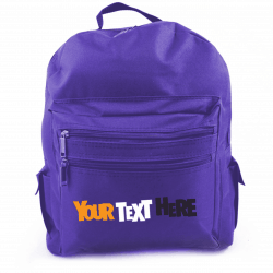 BLUE Adult Size Back Pack