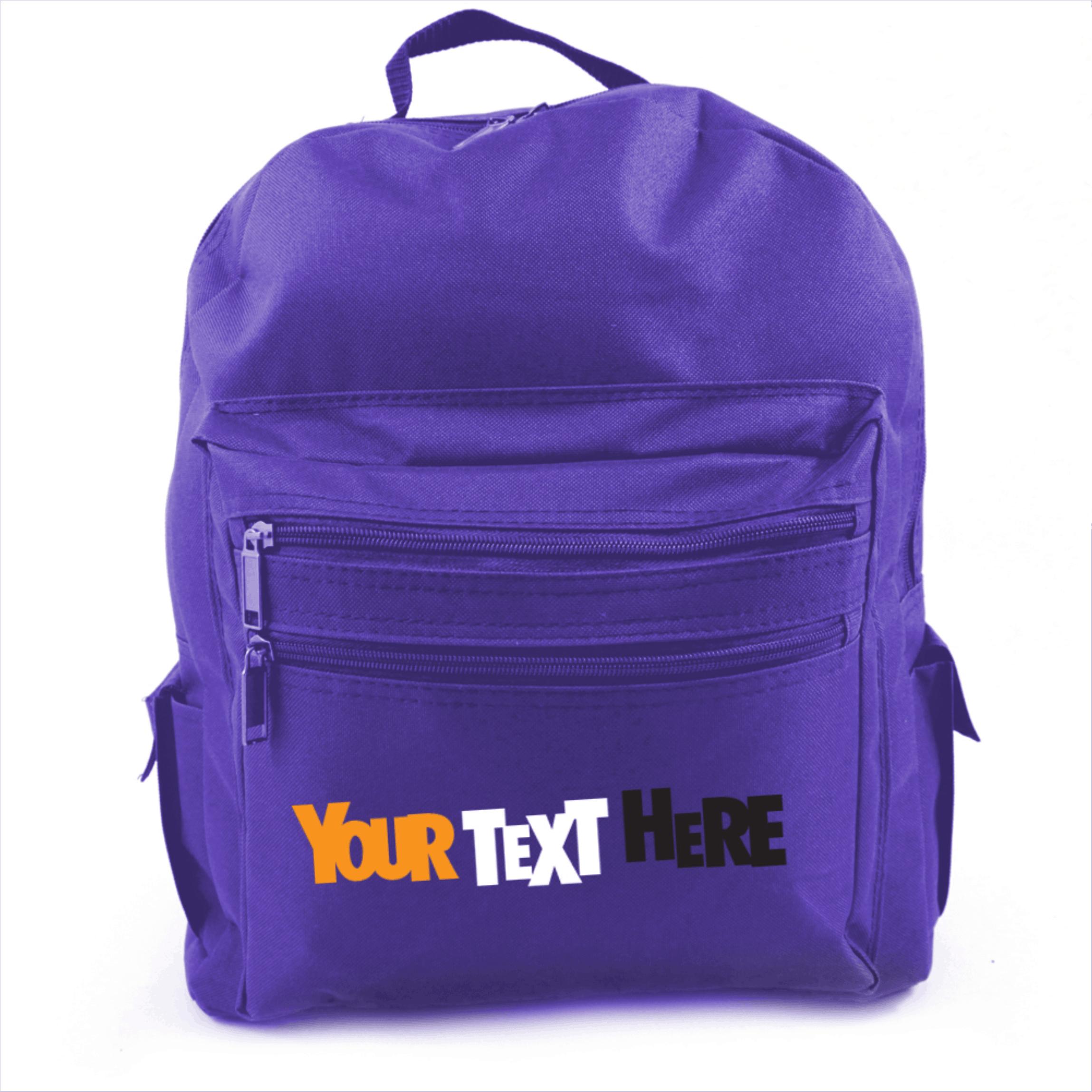 BLUE Adult Size Back Pack