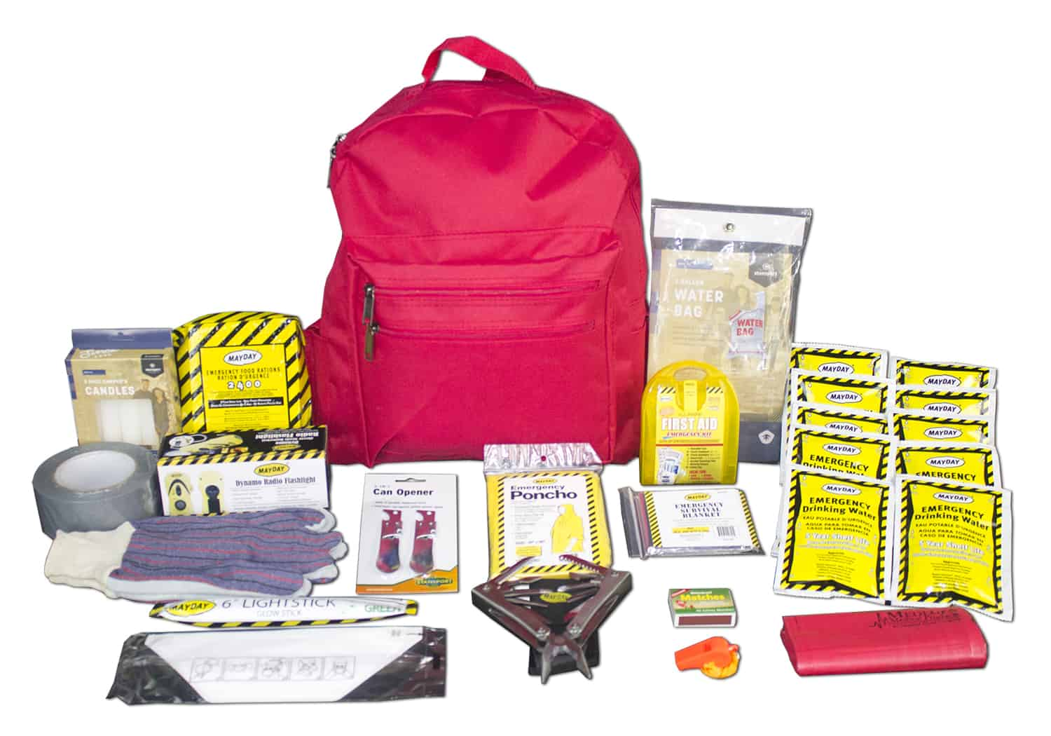 Deluxe 72 Hour Emergency Survival Kit - 1 Person