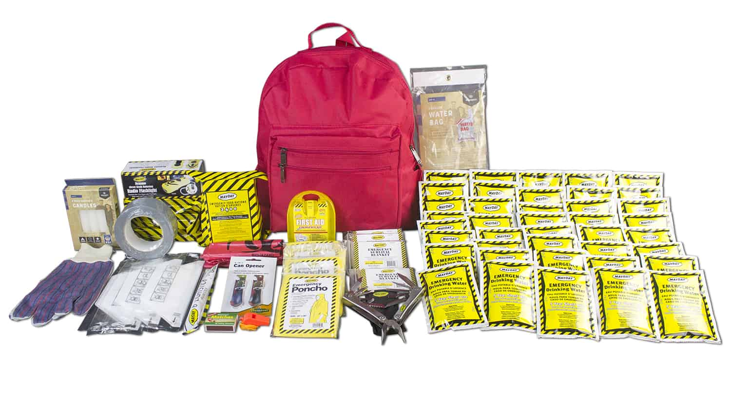 Deluxe 72 Hour Emergency Survival Kit - 4 Person