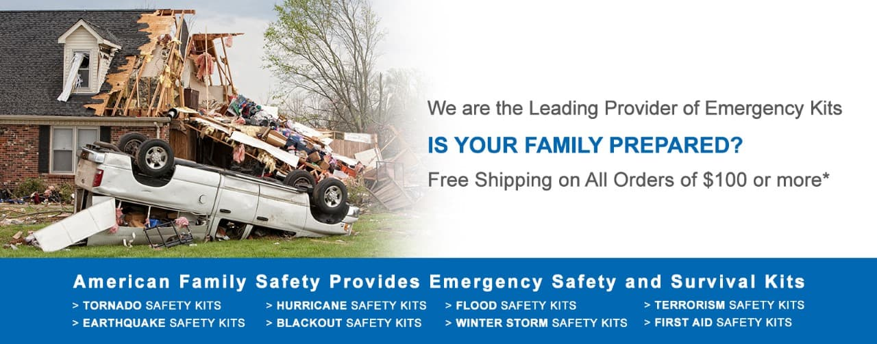We are the leading provider of EMERGENCY PREPAREDNESS KITS For Home, Office, School and Seniors