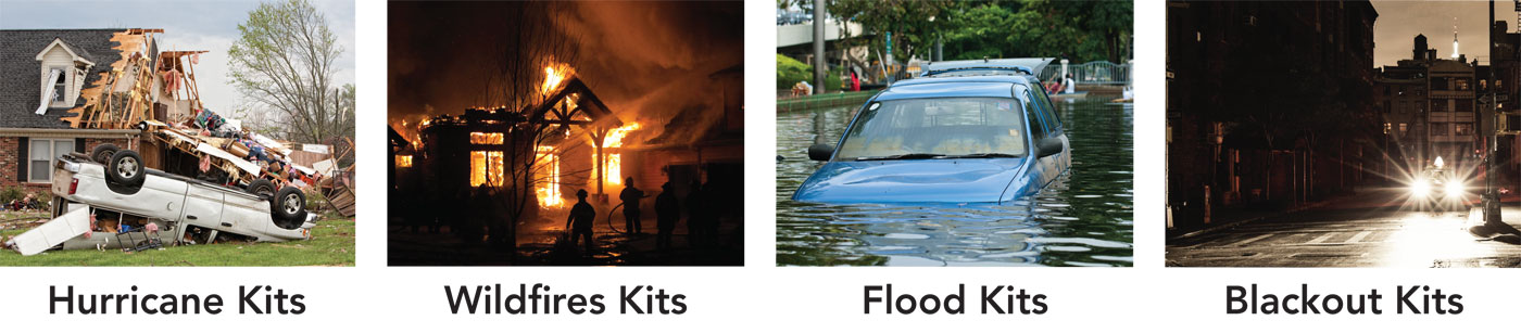 The leading provider of EMERGENCY PREPAREDNESS KITS For Home, Office, School and Seniors